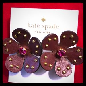 Kate spade leather earrings